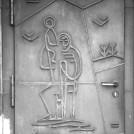 Entwurf für eine Bronzetür, Schwerte, St. Christophorus, 1952